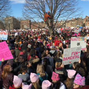 Brenda Gael McSweeney, Boston Women's March, January 21st 2017, Massachusetts, USA, digital photograph, 11 x 14 inches, private collection - not for sale