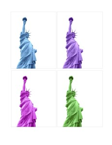Diane Sheridan, Statue of Liberty, digital photography manipulation, 8 ½ x 11 inches (2 pieces), $200