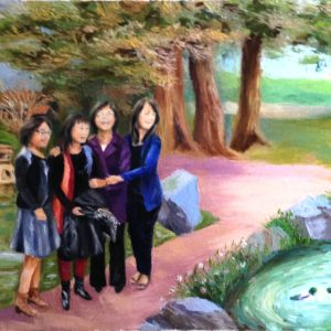 Nhung Mackey, We Are Together, oil on canvas, 24 x 18 inches, $600