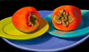Marian Dioguardi, Persimmons on Plates