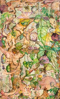 Ruth Rieffanaugh, The Garden Manegeria, 2006 (oil on canvas) 36 x 60 inches)