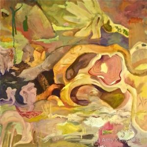 Amy Kelly, Chartreuse, oil on canvas, 36 x 36 inches, $950